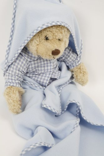 NEW! BLUE SNUGGLE FLEECE BLANKET FOR DOLLS AND BEARS