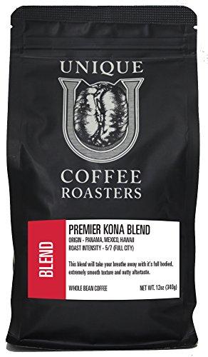 Premier Kona Blend - Unique Coffee Roasters- (2) 12oz. Bags - 24oz. Pack (Unique Coffee compare prices)