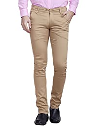 Nimegh Beige Color Cotton Casual Slim Fit Trouser For Men's