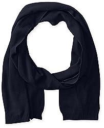 True Religion Men's Knit Cotton Scarf, Midnight Blue, One Size