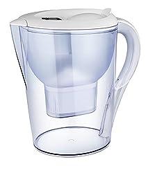 2.5L Alkaline Clear Water Pitcher - Bonus 2 Filter Cartridges - 6 month supply - Transform tap water to Fresh, Great-Tasting Alkaline Water