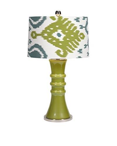 Megaran Glass Table Lamp, Green Multi
