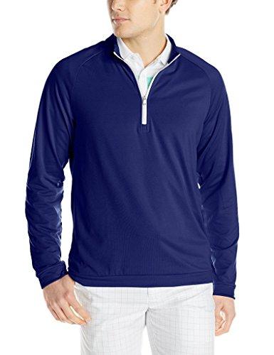 buy adidas Golf Men's Climawarm 3-Stripes 1/2 Zip Training Top, Midnight Indigo/Mid Grey, Small for sale