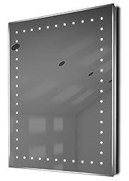 Auto Colour Change Ultra-Slim Bathroom Mirror With Demister & Sensor K166Rgb