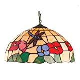 Lighting Web Co 40 cm Glass Dragonfly Tiffany Dome, Beige