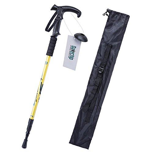 Datechip Trekking regolabile antiurto per bastoni da Trekking, in alluminio ultraleggero, a T, 2 colori