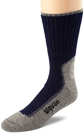 Wigwam Men's Hiking/Outdoor Pro Length Sock,Small,Navy/Pewter