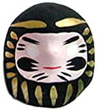 Miniature Daruma Doll (Japanese Good Luck Charm) Black
