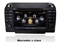See susay for Mercedes-Benz S Class Car DVD Player With GPS Navigation(free Map)Audio Video Stereo System with Bluetooth , USB/SD, AUX Input, Radio(AM/FM), TV, Plug & Play Installation Details