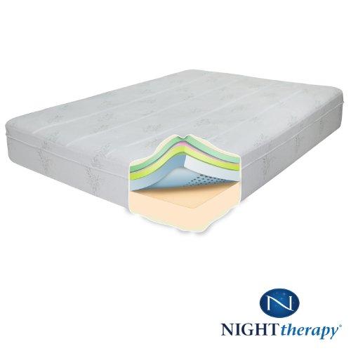"""Night Therapy 10"""" Therapeutic Pressure Relief Memory Foam"""