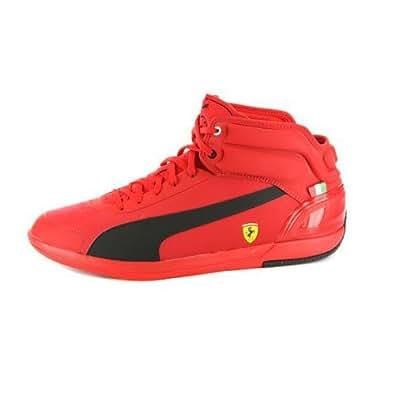 .com: Puma Mens Driving Power Light Ferrari High Top Sneakers: Shoes