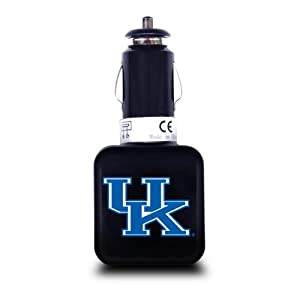 NCAA Kentucky Wildcats Dual USB Car Charger with USB Charge/Sync Cable for Apple iPhone, iPod, and iPad