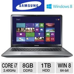 "Samsung Series 3 NP350E7C-A01US Intel 3rd generation Core i7-3630QM 2.4GHz ~ 1TB ~ 8GB ~ 17.3"" HD+ LED (1600x900) ~ DVD+/-RW ~ BlueTooth 4.0 ~ WiDi ~ Windows 8"