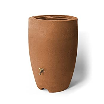 Algreen Products Athena Rain Barrel 50-Gallon, Terra Cotta