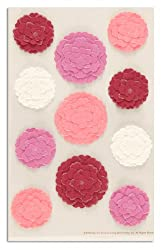 Martha Stewart Crafts Stickers Flowers Pink/White By The Package