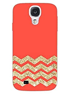 Zigzag - Abstract Pattern - Designer Printed Hard Back Shell Case Cover for Samsung S4 Superior Matte Finish Samsung S4 Cover Case