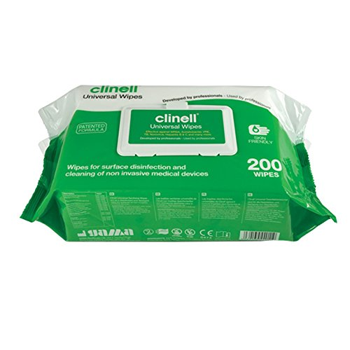 Clinell Multi-Purpose Universal Sanitising Wipes, Pack of 200, NHS Approved