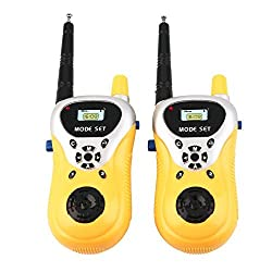 Catterpillar (TM) Battery Operated Walkie Talkie set for Kids (Yellow)