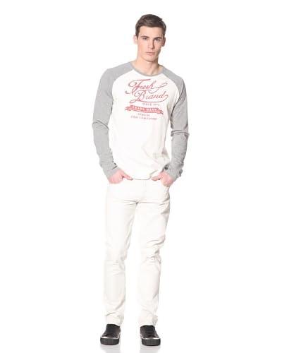 Fresh Men's Three Quarter Sleeve Varsity Shirt