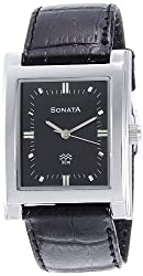 Sonata Analog Black Dial Mens Watch - 7925SL02A