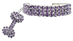 Mirage Pet Products 8 to 10-Inch Glamour Bits Pet Jewelry, Medium, Purple