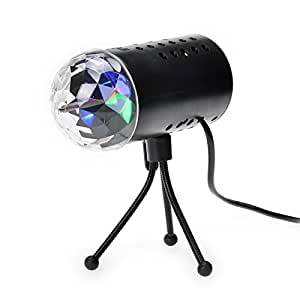 TSSS ® Disco DJ Bühnenbeleuchtung LED RGB Kristall Rainbow Color Effect Licht KTV Xmas Party Wedding Show im Club PubBathing In The Rainbow With TSSS,Party Essential~Only 12.99€