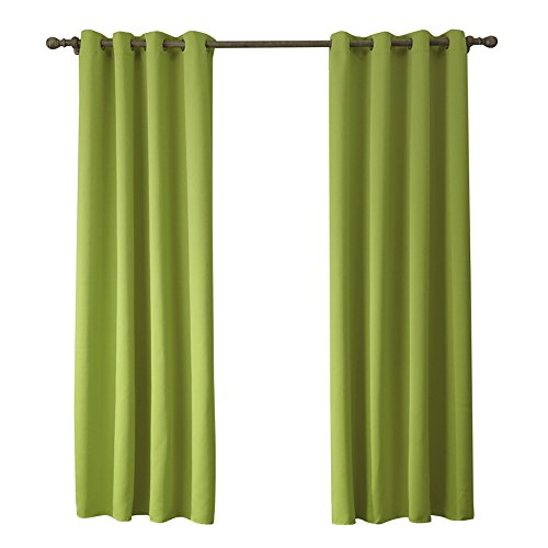 """ChezMax auto, finestra Drapes-Tende oscuranti per camere da letto, Verde, 52"""" W x 84"""" L"""