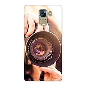 Impressive Premier Camera Multicolor Back Case Cover for Huawei Honor 7