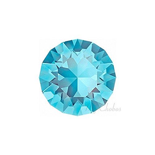 AQUAMARINE (202) lake blue Swarovski 1088 XIRIUS Chaton Round Stones pointed back rhinestones ss39 (8.16 - 8.41 mm) 18 pcs (1/8 gross) *FREE Shipping from Mychobos (Crystal-Wholesale)*