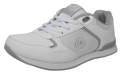 Damenstiefel mit Schnürung, flacher Sohle leichtgewichtige Bowling-Schuhe, Bowling-Schuhe, Weiß, Weiß - weiß - Größe: 38.5