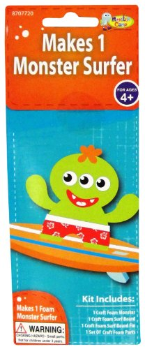 Monster Camp Foam Monster Surfer Craft Activity Kit