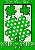 Luck of the Irish St. Patrick's Day Garden Flag