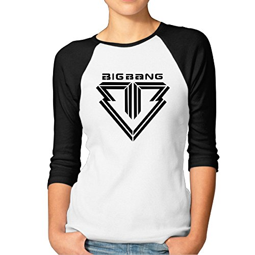 BIGBANG Raglan Sleeve Casual Half Sleeve T-shirts Women Comfortable 3/4 Sleeve?T-shirt (Big Bang Kpop Shirt compare prices)