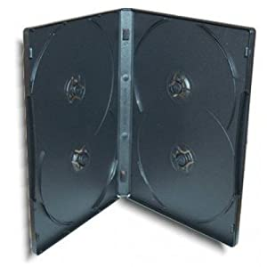 10 custodie multiple 4 posti per cd e dvd spessore 14mm