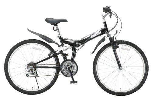 Raychell(レイチェル) Wサス付き26インチ18段変速折りたたみマウンテンバイク MTB-2618R 【6カラー展開】 ブラック MTB-2618R