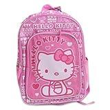 "Backpack - Hello Kitty - Hearts Pink (16"" School Bag)"