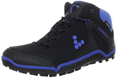 Vivobarefoot Mens Synth Hiker M Hydrophobic Mesh Trekking and Hiking Boots 300003-01 Black/Royal Blue 13 UK, 47 EU