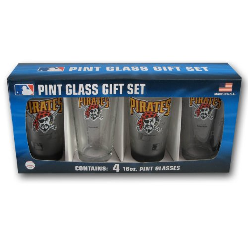 MLB Pittsburgh Pirates Pint Glass (Pack of 4)