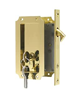 Manor By Fpl Solid Brass Pocket Door Mortise Lock Set