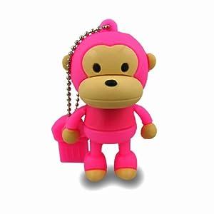 818-TEch No7700040016 Hi-Speed 2.0 clé USB 16Go singe chimpanzé T-shirt 3D rose