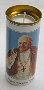 Set of 4 Votive Candles - Pope John XXIII [ Italian Import ] by SER S.p.A.