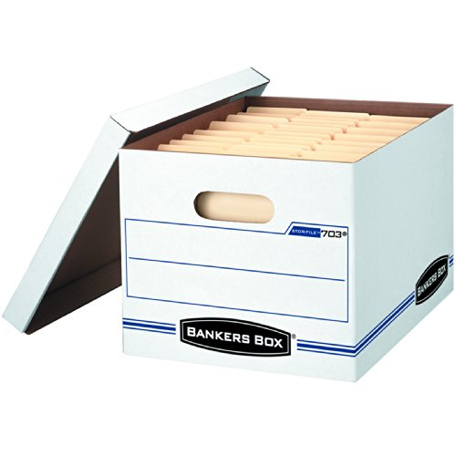 Bankers Box Stor/File Basic-Duty Storage Boxes with Lift-Off Lid, Letter/Legal, 6 Pack (File Folder Storage Box compare prices)