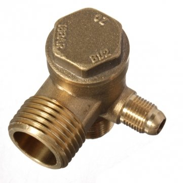 Obsidian Brass Male Threaded Check Valve Tool for Air Compressor