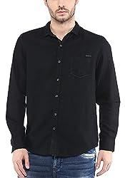 Mufti Mens Black Slim Fit Shirt