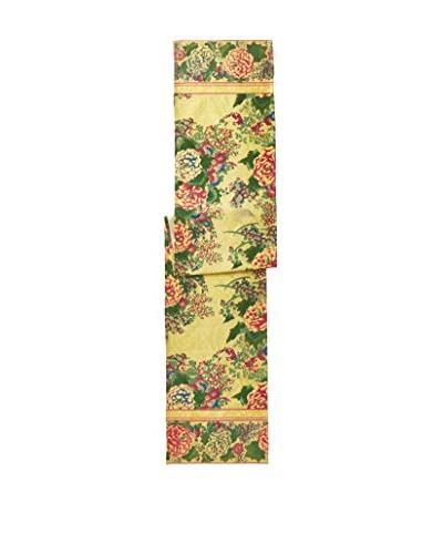April Cornell Chinese Flower Runner, Chartreuse