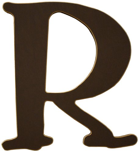 New Arrivals The Letter R, Chocolate Brown