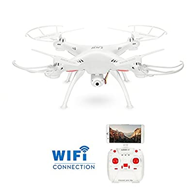 GoolRC L15W Wifi FPV Drone with Camera Live Video, Altitude Hold, 3D Flips, Headless Mode, One key Return RC Quadcopter by GoolRC