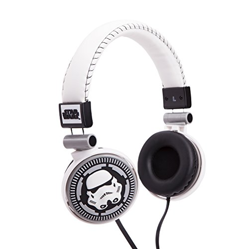 Star Wars Cuffie Stereo, Figura Storm Trooper, 3.5 mm Jack, Bianco