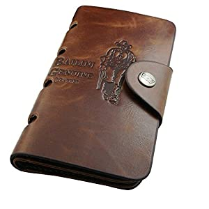 Fashion Story Men PU Leather Long Wallet Card Holder Clutch Bifold Slim Coin Purse from Fashion Story
