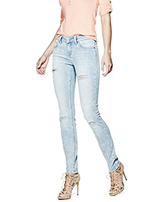 G by GUESS Women's Sienna Curvy Skinny Jeans in Light Destroy Wash
